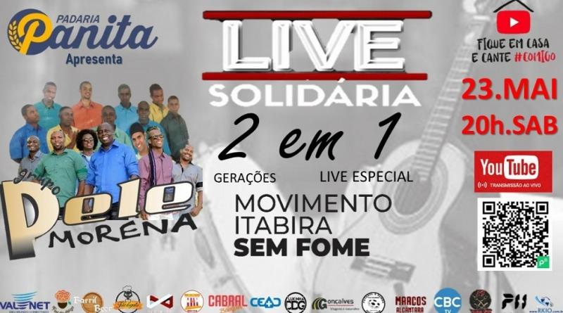 Live Solidária com o grupo Pele Morena
