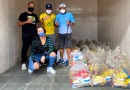 Alimentos arrecadados pela Live do grupo Pele Morena são entregues ao instituto Lukinhas DDG