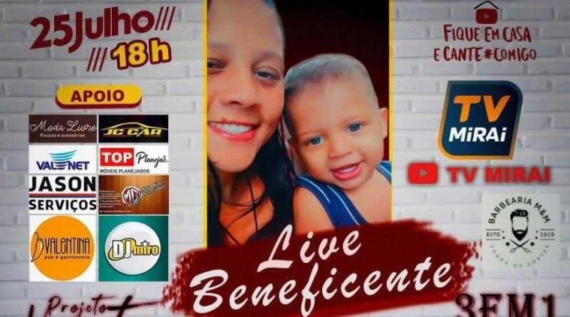 Live Beneficente; Amanhã 25 de Julho às 18 horas.