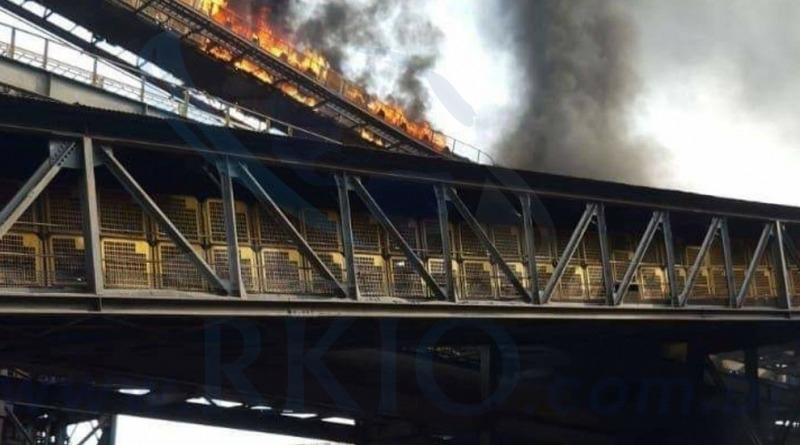 Correia transportadora da mineradora VALE incendea-se  em Itabira