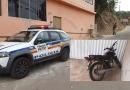 Moto furtada no sábado é abandonada no bairro Praia em Itabira